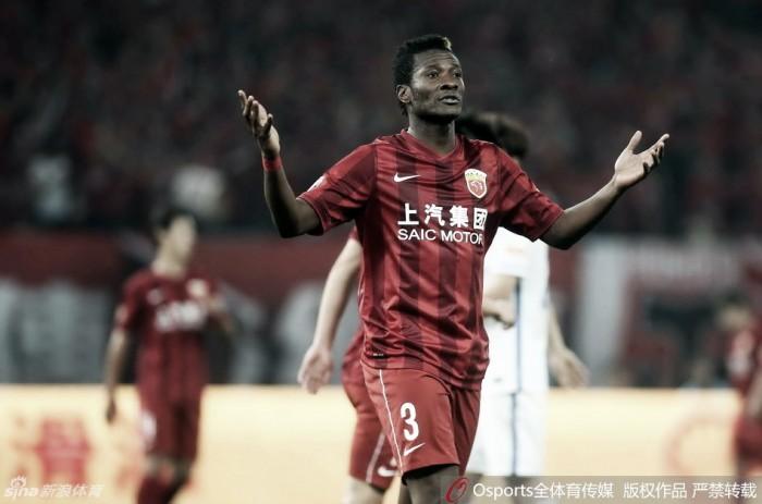 Asamoah Gyan pode estar de partida do Shanghai SIPG