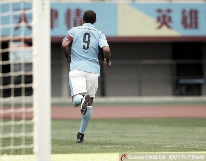 Luís Fabiano marca, mas Tianjin perde mais uma na segunda divisão Chinesa