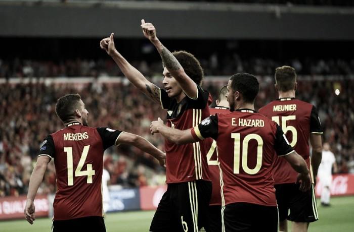 Falha do goleiro, Witsel expulso e placar elástico: Bélgica atropela Gibraltar pelas Eliminatórias