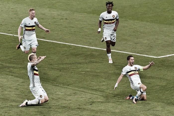 Hazard brilha, Bélgica goleia Hungria e avança às quartas da Eurocopa