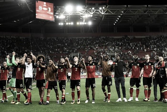 Primeiro europeu na Copa da Rússia: Bélgica vence Grécia e garante vaga no Mundial