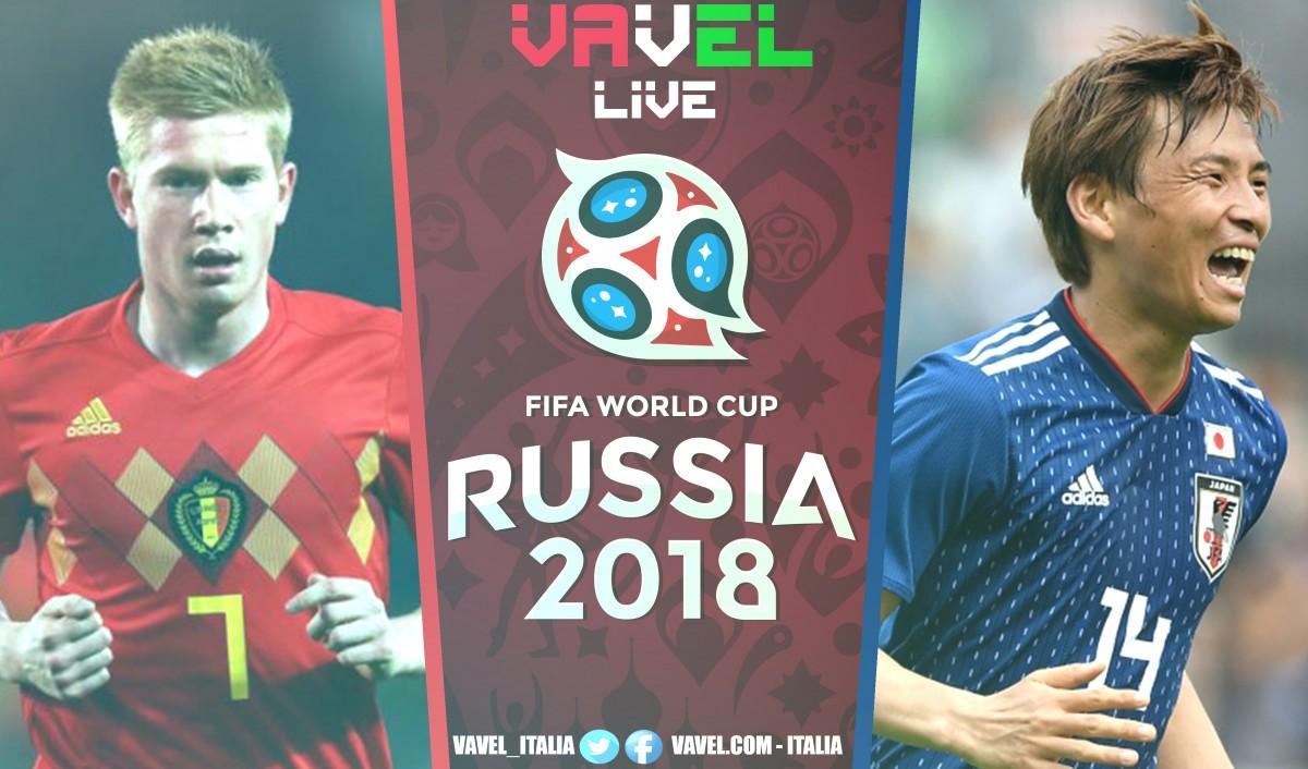 Terminata Belgio - Giappone, LIVE Mondiali Russia 2018 (3-2): Chadli-gol, Devils ai quarti nel recupero