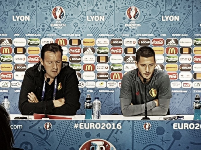 """Belgio, Wilmots in conferenza stampa: """"Noi dobbiamo essere pronti, l'Italia è molto pericolosa"""""""