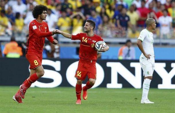 Fellaini e Mertens stendono l'Algeria, 2-1 Belgio in rimonta