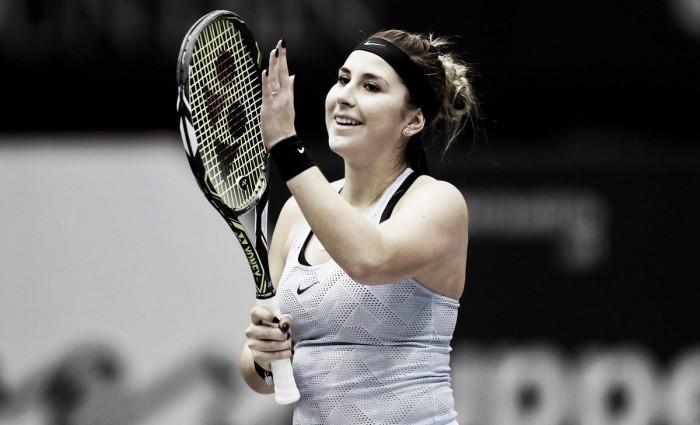 WTA Linz: Belinda Bencic makes winning return from injury lay-off