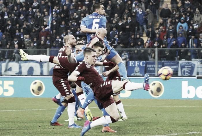 Empoli e Torino si dividono la posta tra la pioggia e il nervosismo (1-1)