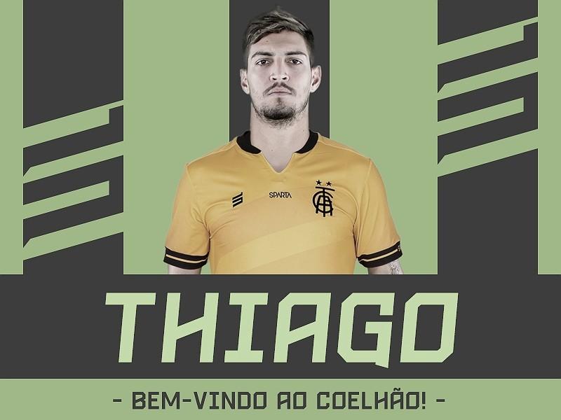 América-MG acerta com Flamengo e anuncia contratação porempréstimo do goleiro Thiago