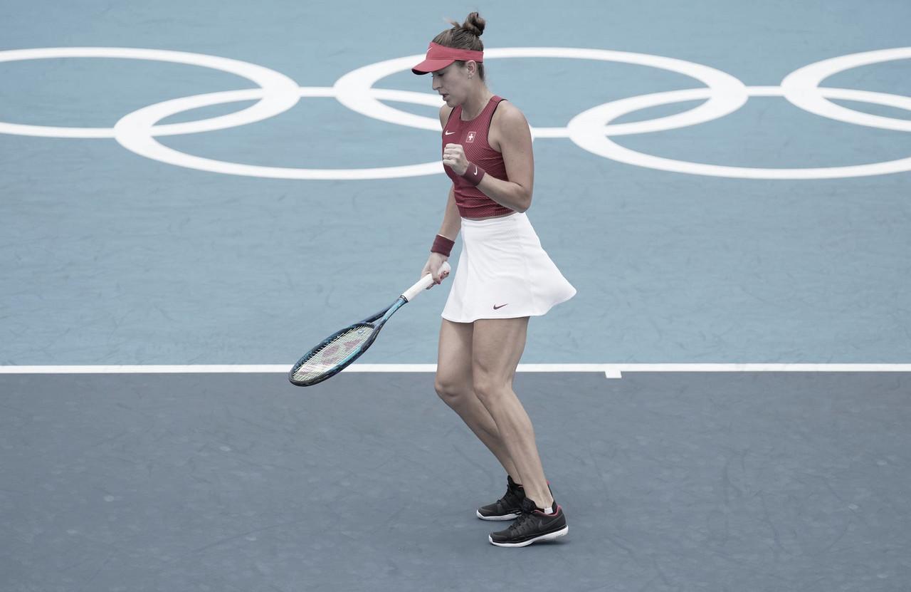De virada, Bencic bate embalada Krejcikova em Tóquio; Muguruza segue sem perder sets