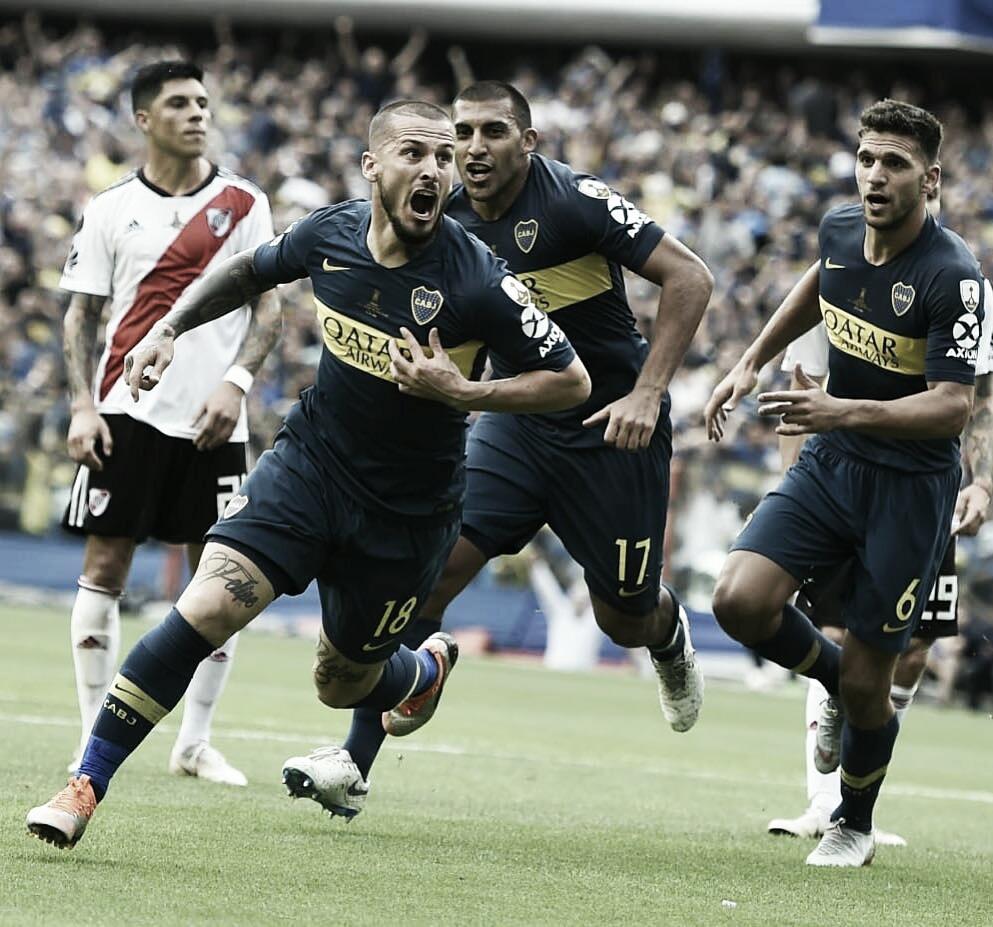 """Após empate com River, Benedetto afirma: """"Futebolisticamente o Boca foi melhor"""""""