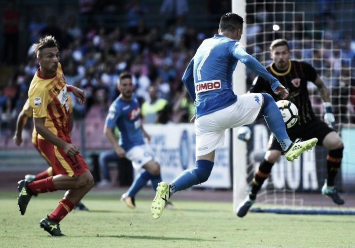 Benevento, crollo rovinoso a Napoli. Le parole di Baroni dopo il 6-0 del San Paolo
