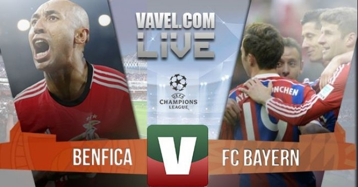 Resultado Benfica x Bayern Munique na Liga dos Campeões 2015/2016 (2-2)