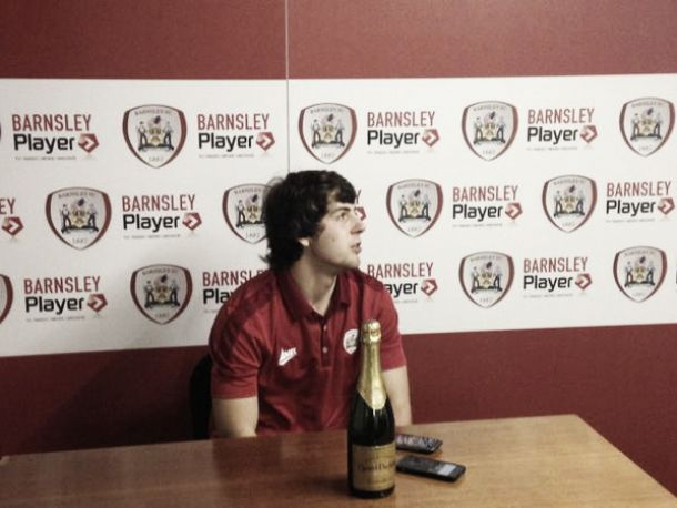 Ben Pearson collects Man of the Match award on professional debut at Oakwell