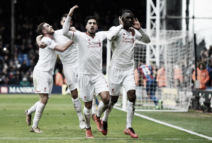 Crystal Palace 1-2 Liverpool: Benteke's last-gasp penalty hands 10-man Reds a dramatic win