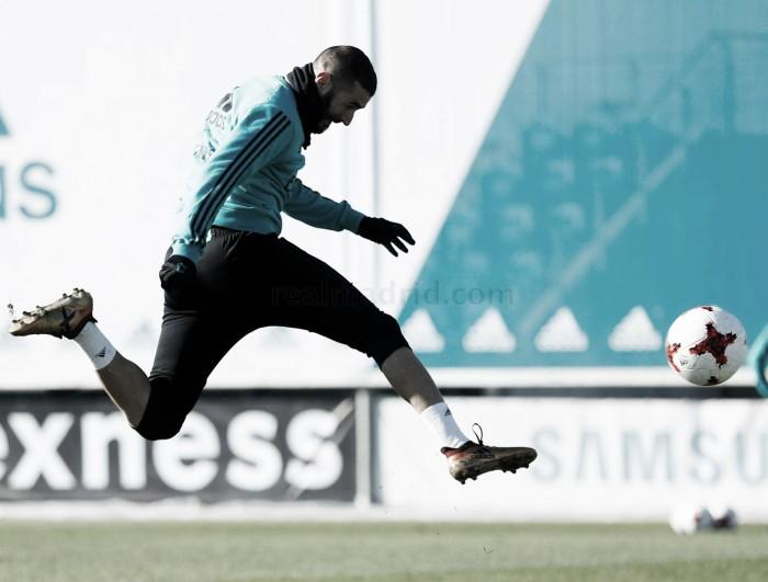 Entrenamiento previo a la Copa del Rey: con Benzema, pero sin Sergio Ramos