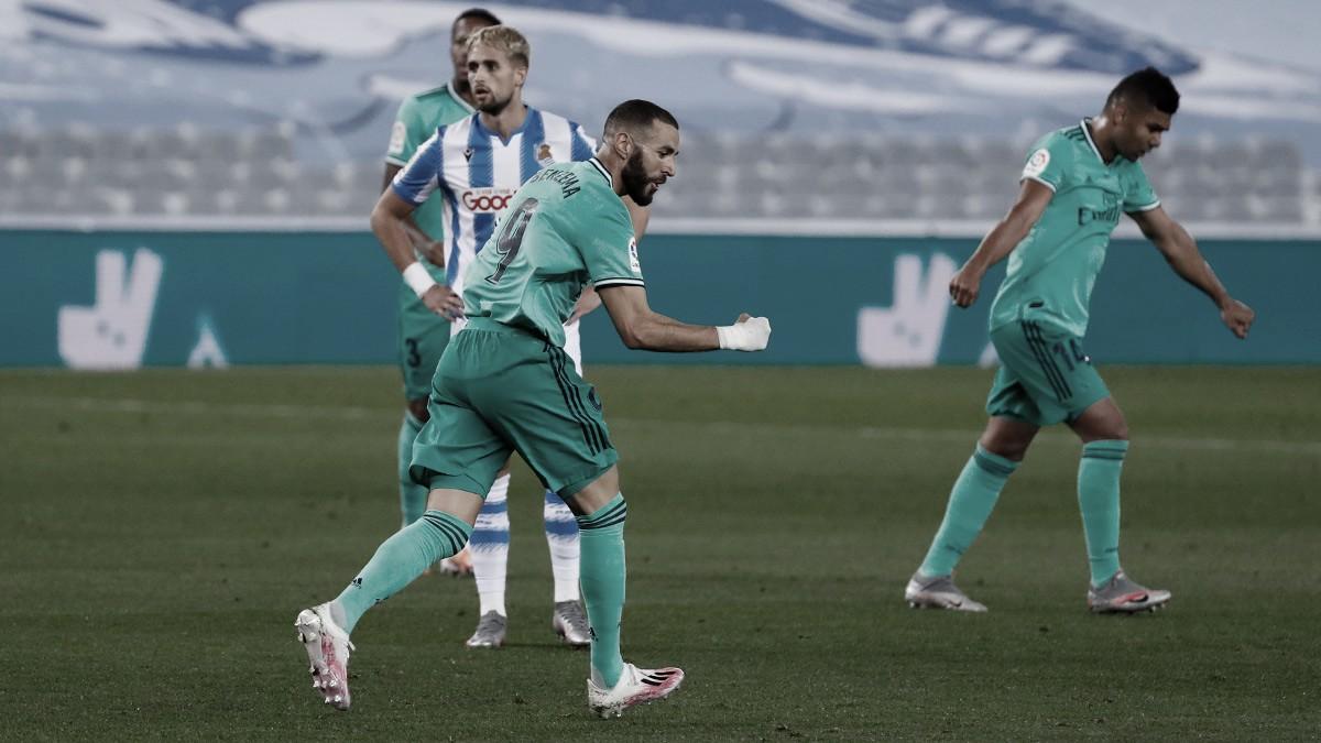 El Real Madrid, líder tras un polémico partido ante la Real Sociedad