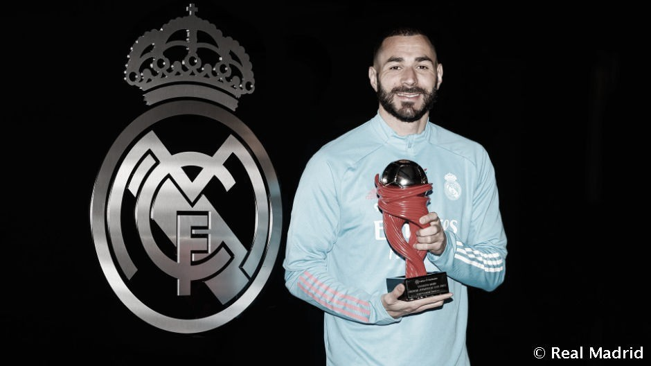 Benzema, elegido como el mejor futbolista de marzo