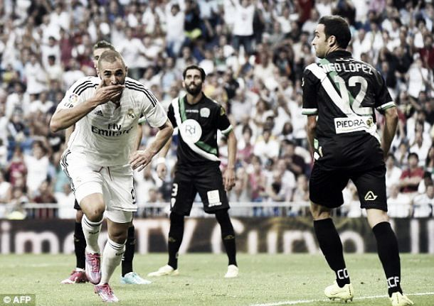 Real Madrid 2-0 Cordoba: Los Blancos see of La Liga new boys
