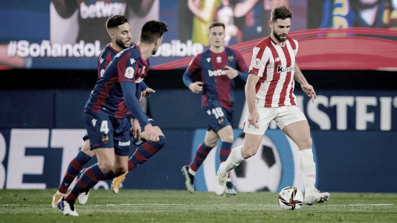 Nos acréscimos, Athletic Bilbao vira contra o Levante e é finalista da Copa do Rei