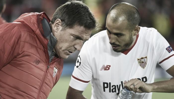 """Expulso contra o Liverpool, Berizzo avalia empate fora de casa: """"Sensação positiva"""""""