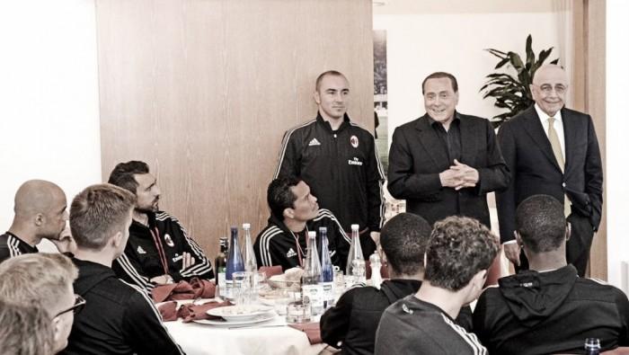Berlusconi vicino al suo Milan prima della finale di Coppa Italia contro la Juventus