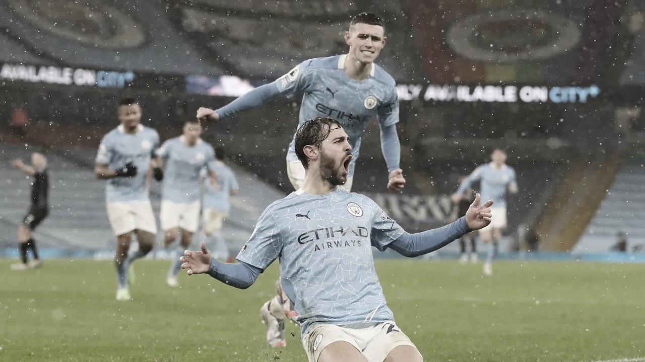 Bernardo Silva celebrando el 1-0 / FOTO: Premier League