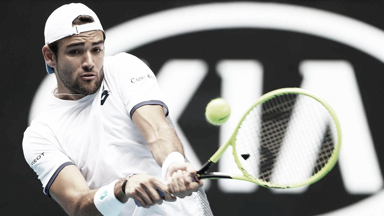 Matteo Berrettini desiste do Rio Open por conta de uma pubalgia