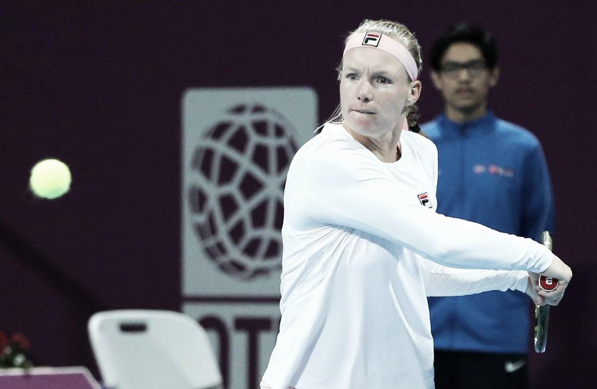 Bertens supera pneu no primeiro set, bate Giorgi e estreia com vitória no WTA de Doha