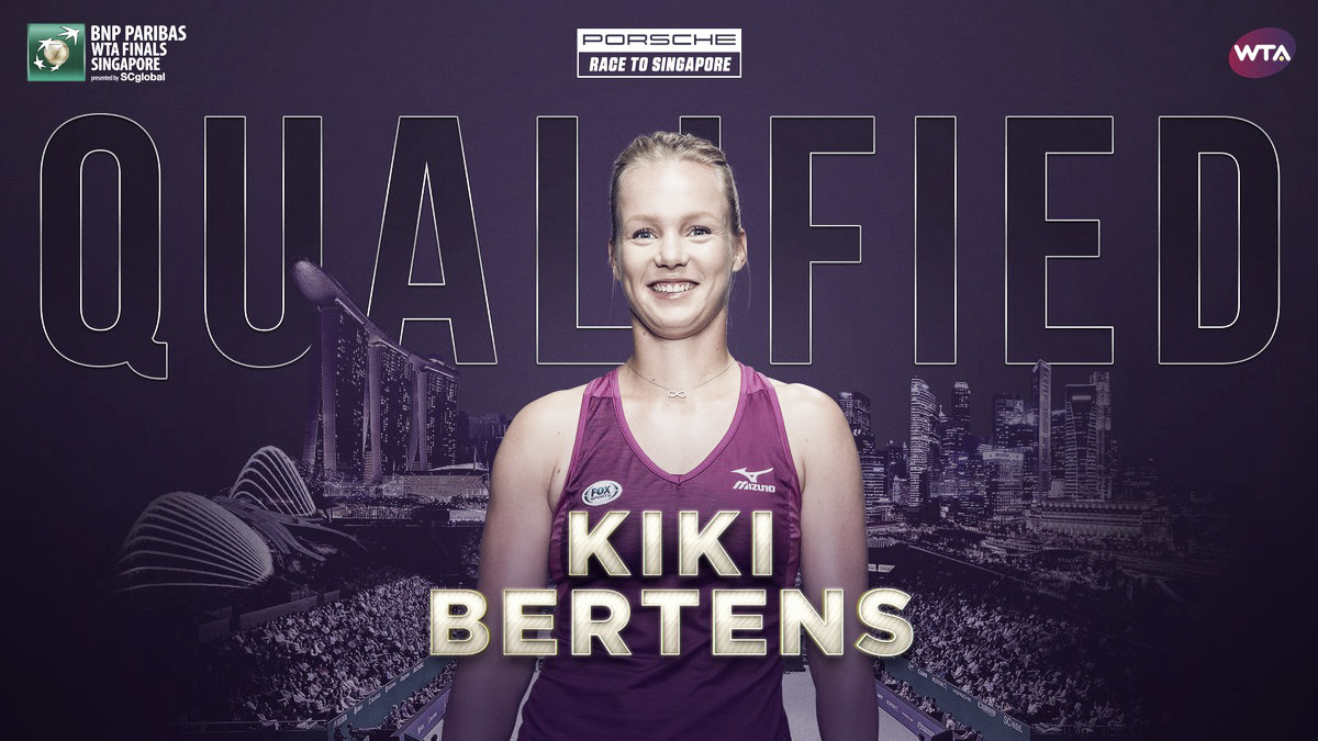 Kiki Bertens qualifies for WTA Finals