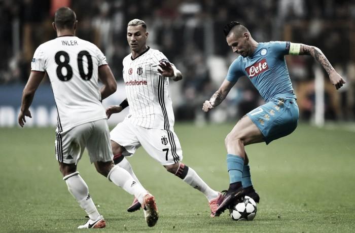 Napoli, la perla di Hamsik salva gli azzurri: 1-1 con il Besiktas