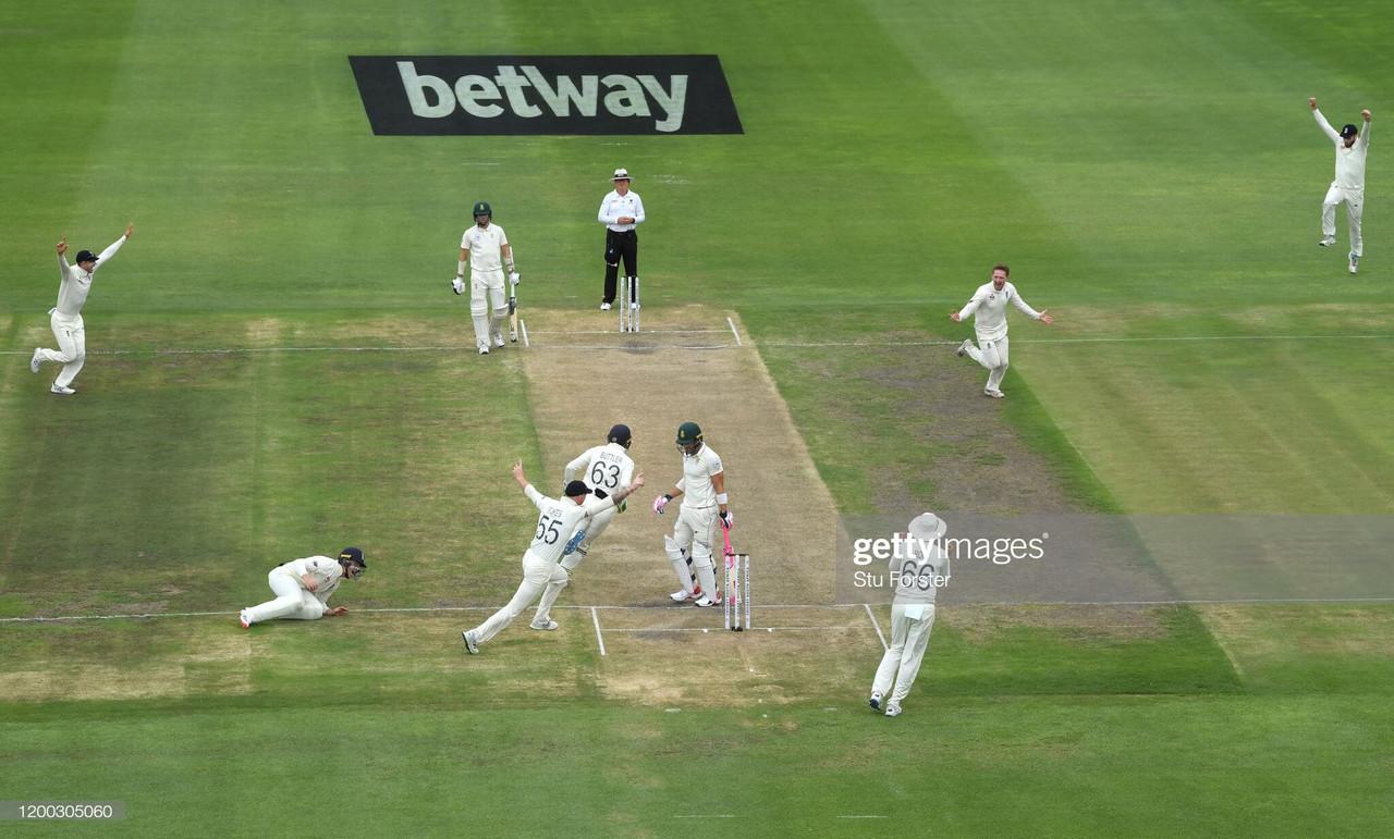 Bess starts as England's progress halted by de Kock and rain