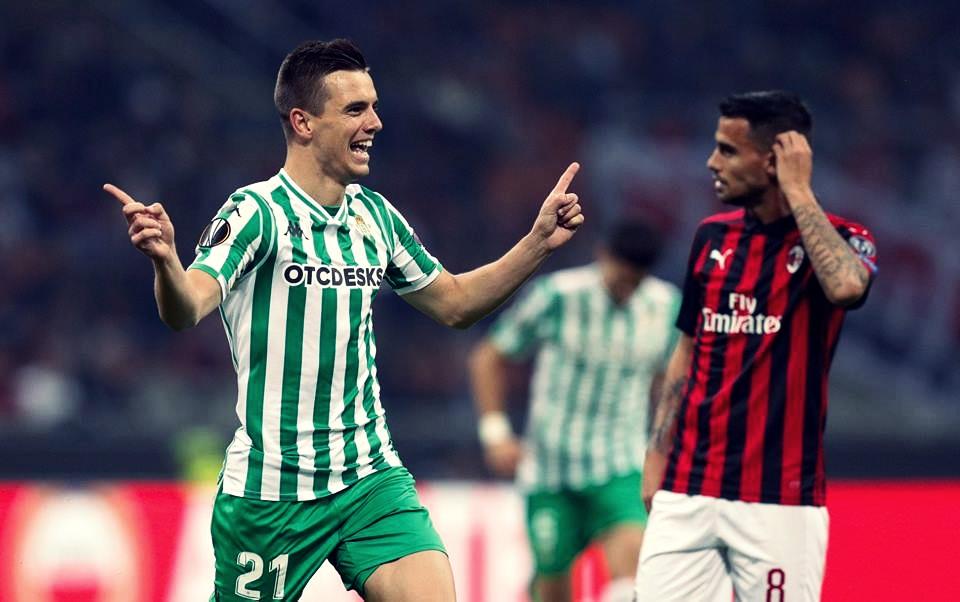 Real Betis bate o Milan na Itália e encaminha classificação para próxima fase da Europa League