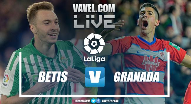 Resumen Betis 2-2 Granada CF en LaLiga Santander 2020