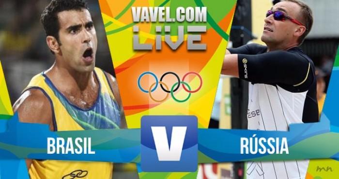 Vôlei de Praia masculino: Brasil x Rússia (1-2)