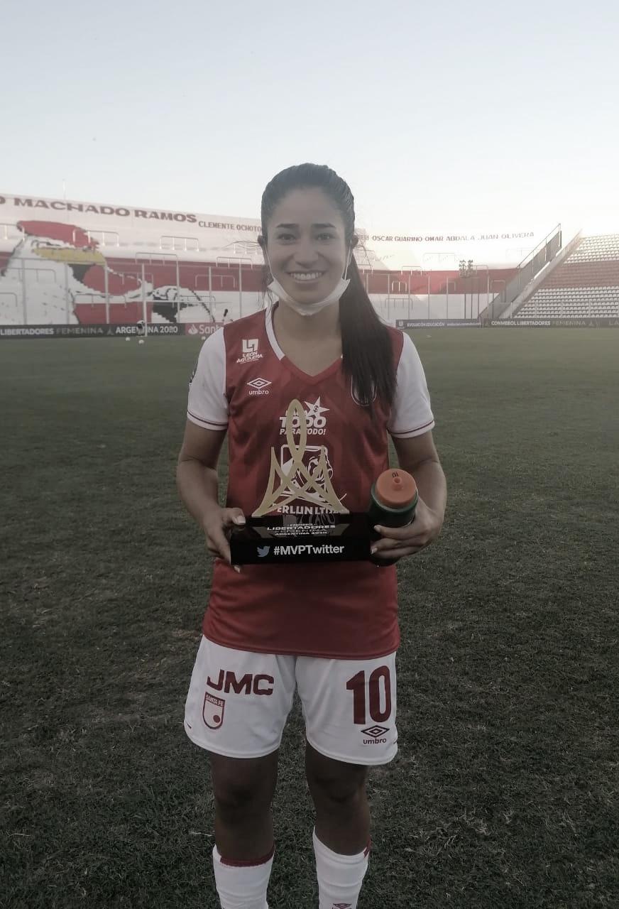 Fany Gauto, golazo y figura en el debut de Santa Fe en la Copa Libertadores Femenina