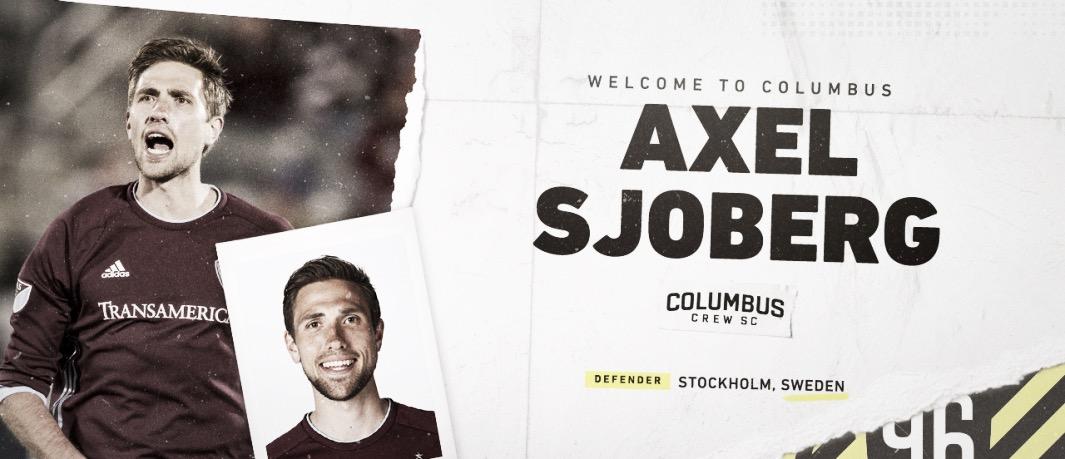 Axel Sjoberg firma con Columbus Crew SC