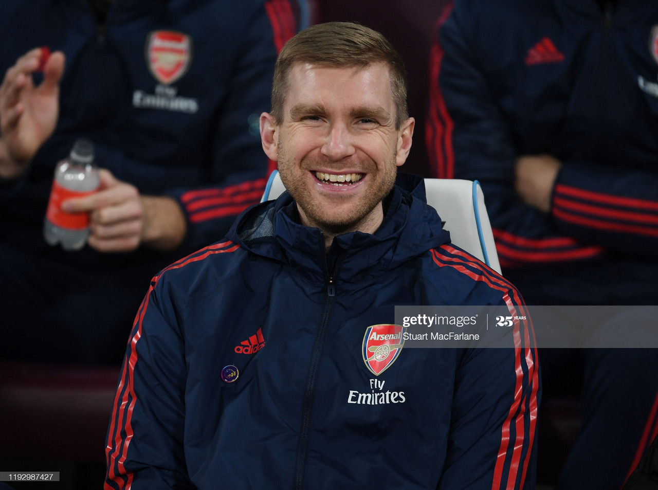 LONDON, ENGLAND - DECEMBER 09: Arsenal Academy Director Per Mer Mesacker the Premier League match between West Ham United and Arsenal FC at London Stadium on December 09, 2019 in London, United Kingdom. (Photo by Stuart MacFarlane/Arsenal FC via Getty Images)