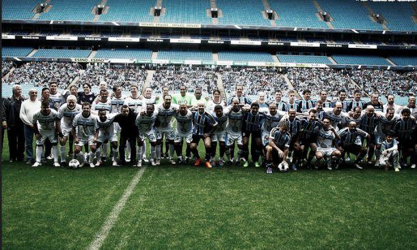 Amistoso na Arena marca reencontro dos bicampeões da Libertadores de 95 pelo Grêmio