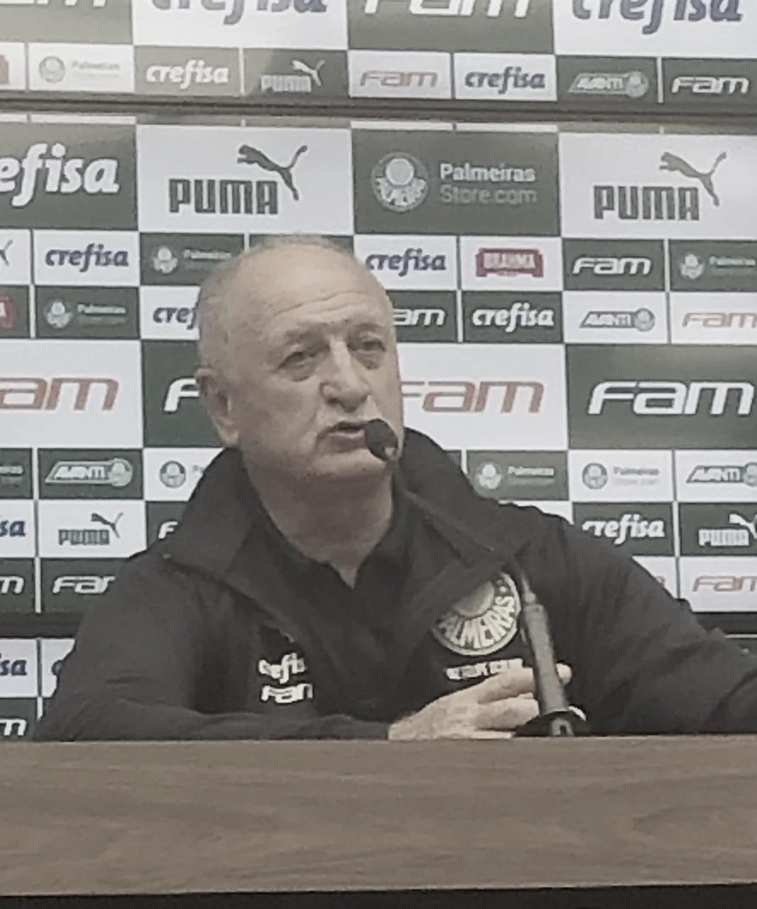 Depois de buscar empate, Felipão diz que Palmeiras 'diminuiu o ritmo no fim'