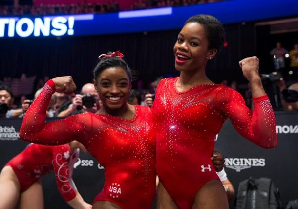 Biles, Douglas Make History As US Women Win All-Around Gold And Silver At World Championships