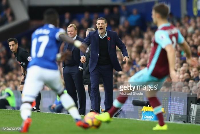 Slaven Bilic: We should have taken something against Everton