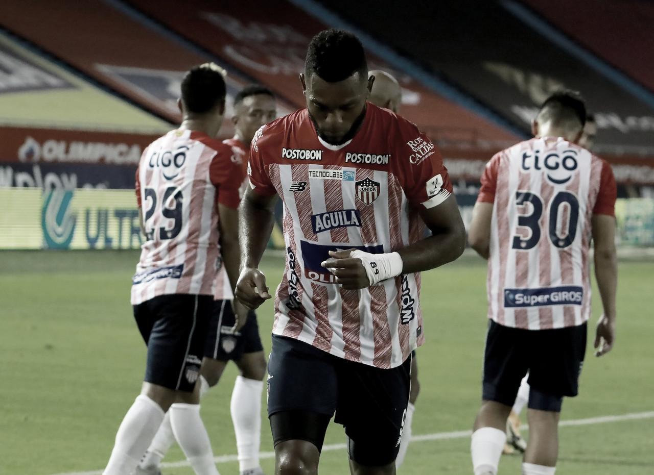 Miguel Ángel Borja, goleador y figura del Junior en la quinta jornada