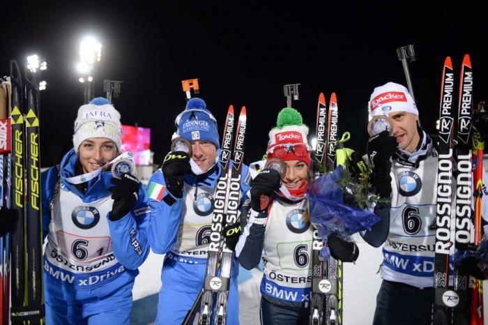Biathlon, a Oestersund Italia terza nella staffetta mista
