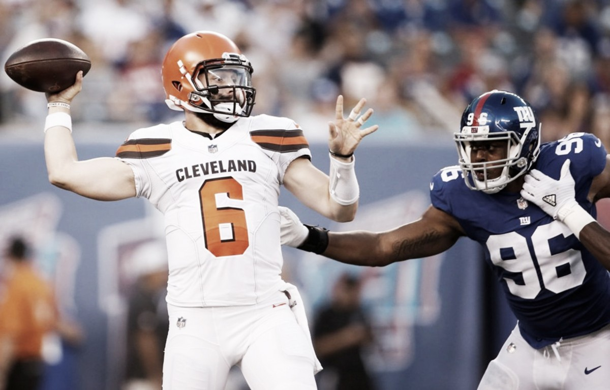 Triunfo de los Browns sobre los Giants en el primer partido de la pretemporada para ambos