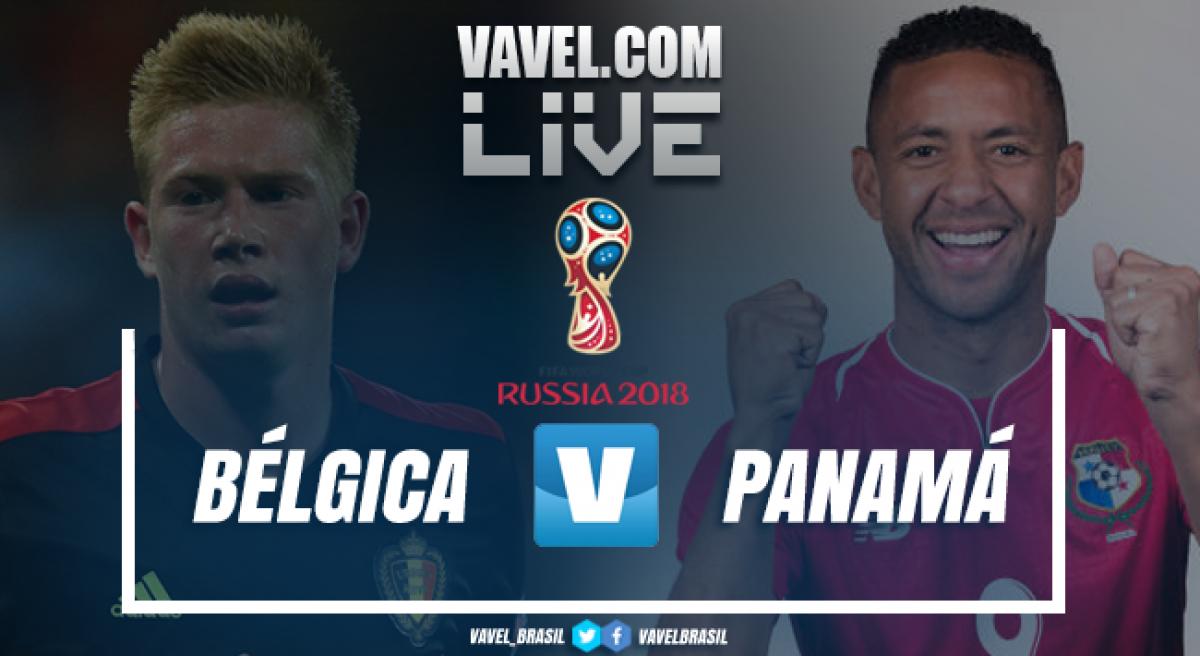 Resultado Bélgica 3x0 Panamá na Copa do Mundo 2018