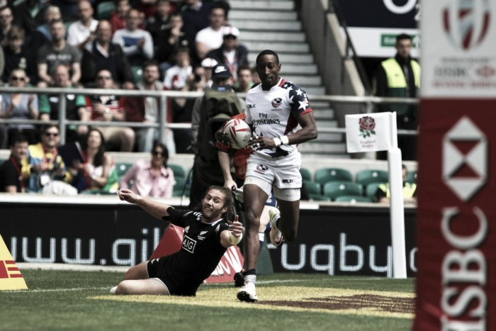 London Sevens: Baker stuns Kiwis, while Scotland knock-out hosts during Twickenham quarter-finals