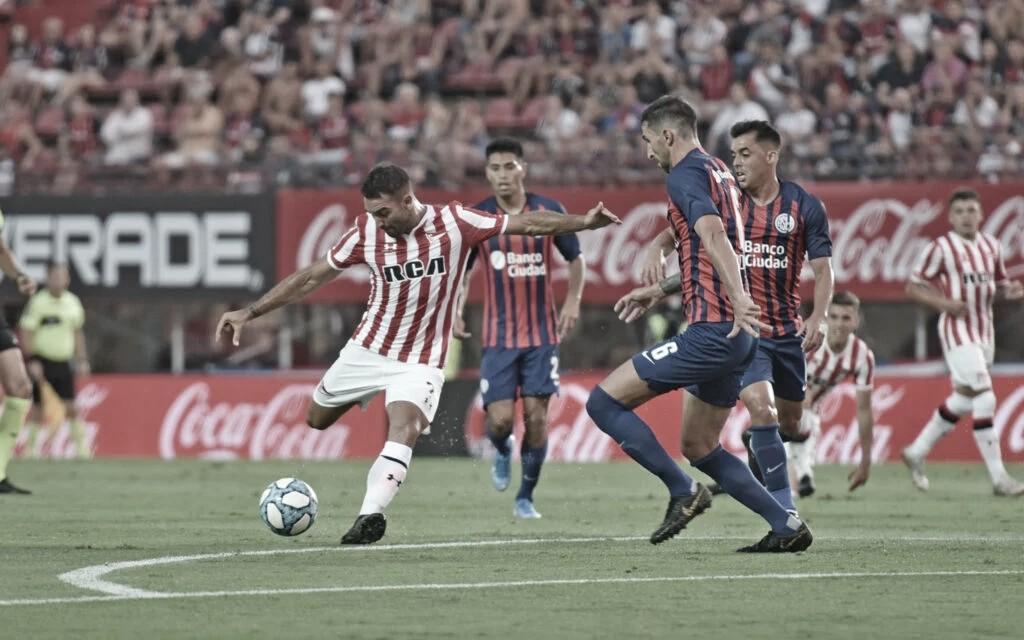Uno de los rivales en la zona es San Lorenzo de Almagro, a quien ya enfrentó en UNO. Foto: Prensa Estudiantes.