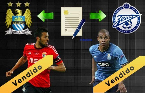 Garay no Zenit e Fernando no Manchester City