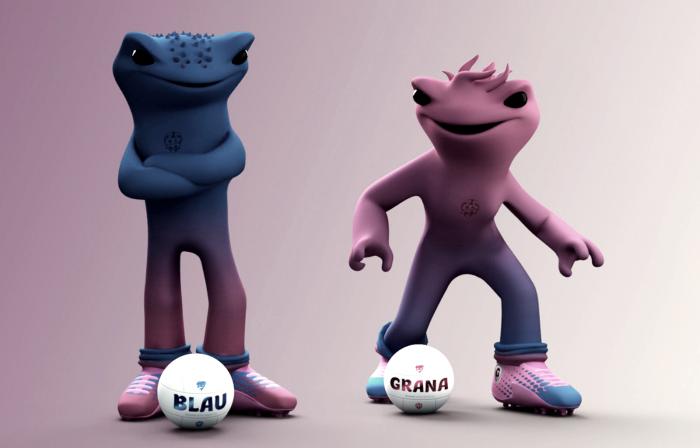 Blau y Grana son las nuevas mascotas del Levante UD