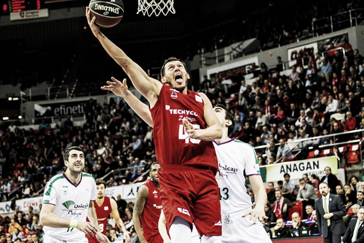 Blums en el encuentro de la primera vuelta/ Foto: Basket Zaragoza