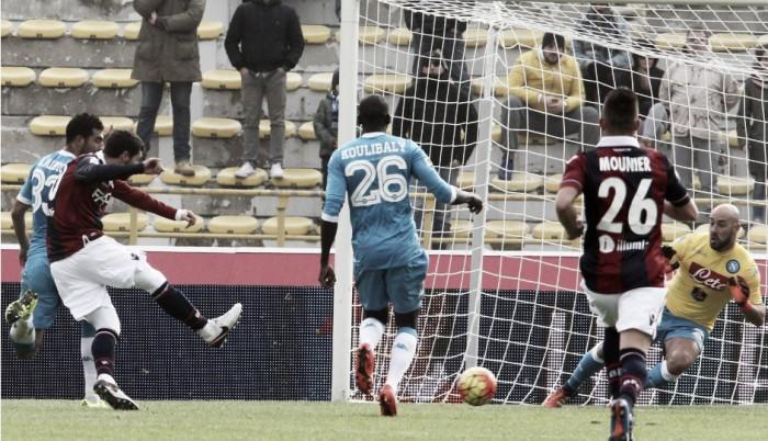 Risultato partita Napoli - Bologna in Serie A 2016/17 - Milikrisolve la pratica Napoli(3-1)